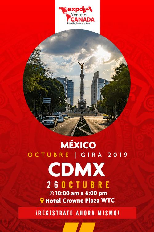 Expo Vente a Canadá CDMX inscripciones